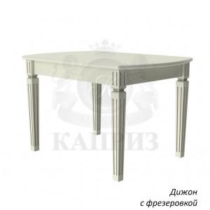 Стол из массива дерева Дижон раздвижной с фрезировкой