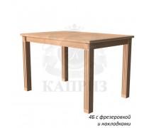 Стол из дерева мод.4Б раздвижной с фрезировкой и накладками