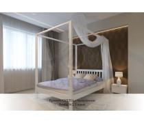 Кровать из массива сосны Сиена с балдахином