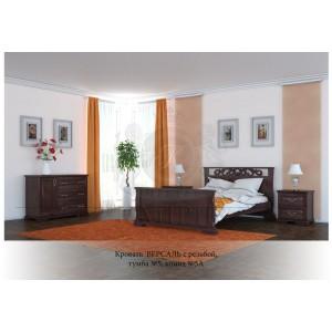 Кровать из массива дуба Версаль резная