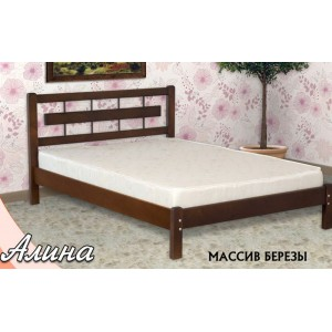 Кровать из массива березы Алина