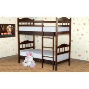 Кровать из массива березы Детская двухярусная