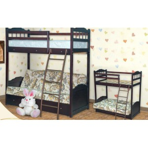 Кровать Детская двухярусная с диваном