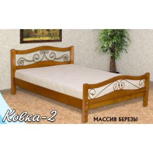 Кровать из массива березы Ковка-2